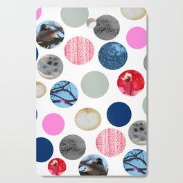 Winter Poka Dot Collage Cutting Board