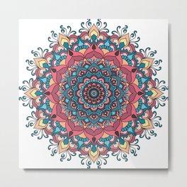 Mandala meditation poster Metal Print