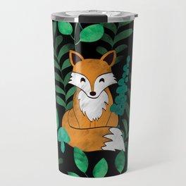 Red Foxes (Black) Travel Mug