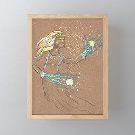Star Girl Framed Mini Art Print