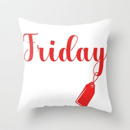 Black Friday Crew Funny Shopping Market Gift Throw Pillow