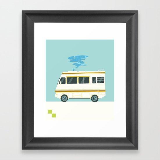 A Badly Broken RV Framed Art Print