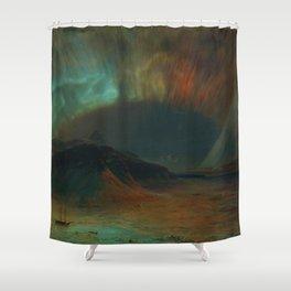 Classical Masterpiece 'Aurora Borealis' by Frederic Edwin Church Shower Curtain