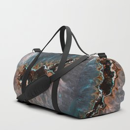 Earth treasures - Blue and orange agate Duffle Bag