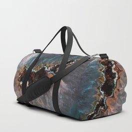 Earth treasures - Blue and orange agate Duffle Bag