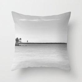 Palms beach and lifeguard towers Throw Pillow