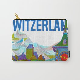 Vintage Switzerland Landmarks Travel Carry-All Pouch