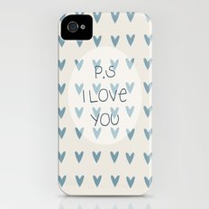 P.S I Love You  iPhone (4, 4s) Slim Case