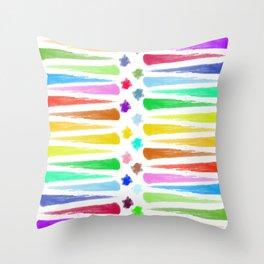 Rainbow Stripes Throw Pillow