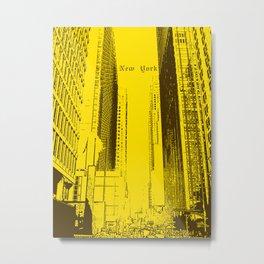 New York City poster Metal Print