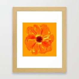 Large Flower in Orange Shades #decor #society6 #buyart Framed Art Print