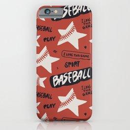 Baseball love. iPhone Case