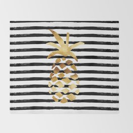 Pineapple & Stripes Throw Blanket