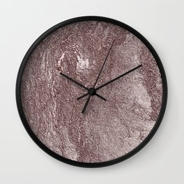 Golden Rose Wall Wall Clock