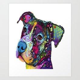 Colourful Pit Bulls, Pit Bulls Gift/ pitbull lover, Gift for pitbull lover - Dog Lover Gift Art Print