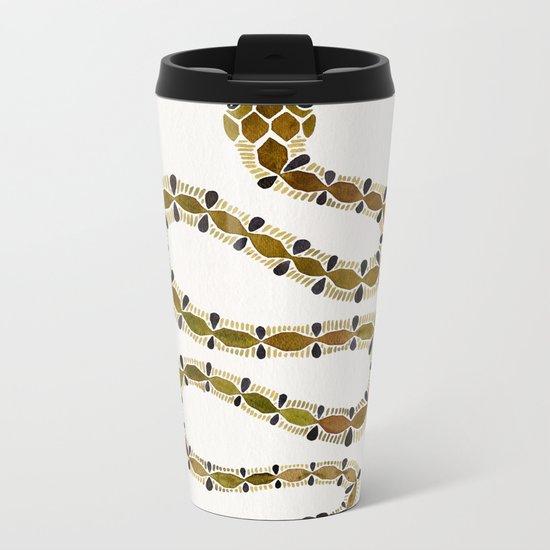 Olive Serpent Metal Travel Mug