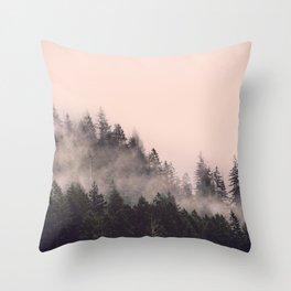 Summer Fog Throw Pillow