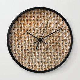 Cotton Canvas Pattern Wall Clock