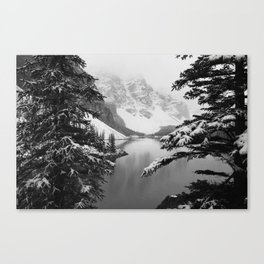 The View (Black and White) Canvas Print