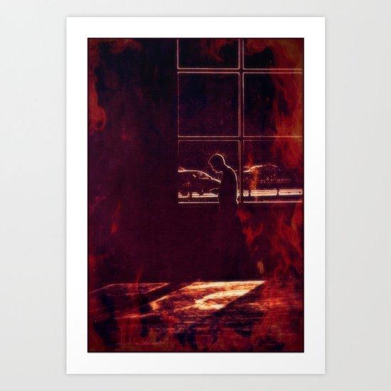 The heat is on Art Print