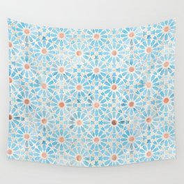 Hara Tiles Light Blue Wall Tapestry