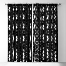 ZIP black with white jagged lines Blackout Curtain