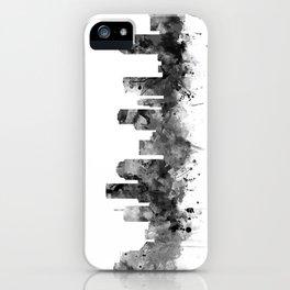 Houston Skyline Black and White iPhone Case