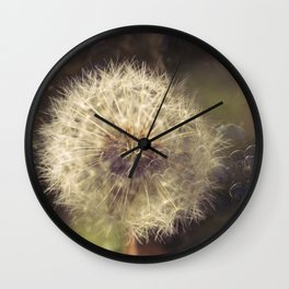 Bubbling Flower Wall Clock