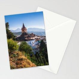 Stunning mountain village of Zahara de la Sierra in Spain Stationery Cards