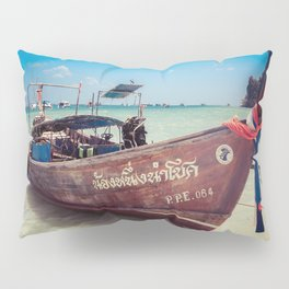 Longtail Boat on Phi Phi Island Thailand Pillow Sham