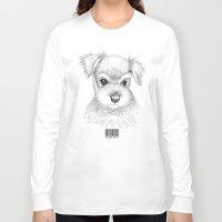 schnauzer Long Sleeve T-shirts featuring Schnauzer by Det Tidkun