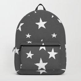 Hand-Drawn Stars (White & Grey Pattern) Backpack
