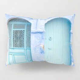 Doors of Chefchaouen VI - The Blue City, Morocco Pillow Sham