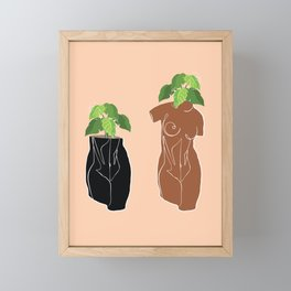 Planters in the Nude Framed Mini Art Print