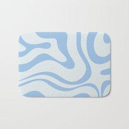 Soft Liquid Swirl Abstract Pattern Square in Powder Blue Bath Mat