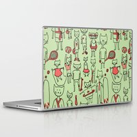 les mis Laptop & iPad Skins featuring les sports by Estelle F