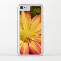 Fiery Flower Clear iPhone Case