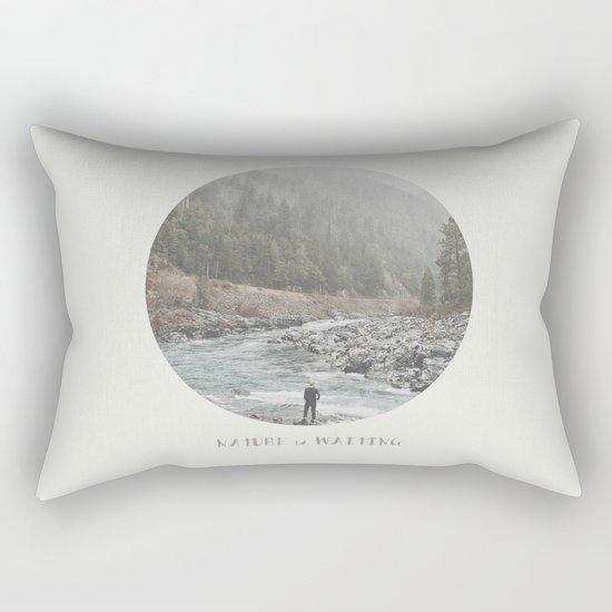 nature is waiting Rectangular Pillow