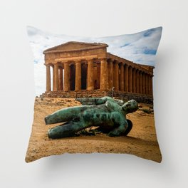 Valle dei Templi - Agrigento Throw Pillow