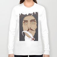 captain hook Long Sleeve T-shirts featuring HOOK by Itxaso Beistegui Illustrations