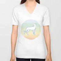 greyhound V-neck T-shirts featuring Greyhound by tuditees