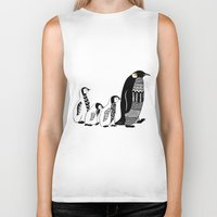 penguins Biker Tanks featuring Penguins by Sophie H.