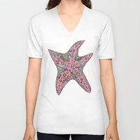 starfish V-neck T-shirts featuring Starfish by Planet Hinterland