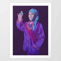 90s Art Prints featuring 80/90s - Ol by Mike Wrobel