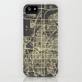 Denver map iPhone Case