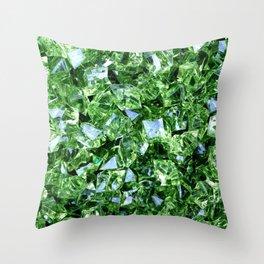 GREEN DIAMOND CLUSTER PATTERN Throw Pillow