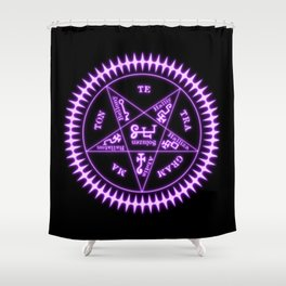 Sebastian Michaelis Sigil Light (black bg) Shower Curtain