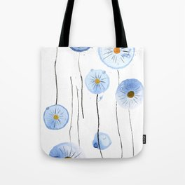 blue abstract dandelion 2 Tote Bag