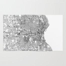 Milwaukee White Map Rug