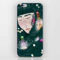 perfume iPhone & iPod Skins featuring Hair Perfume by Luna Kirsche